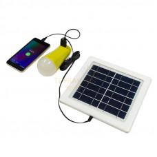 Солнечная батарея с фонариком