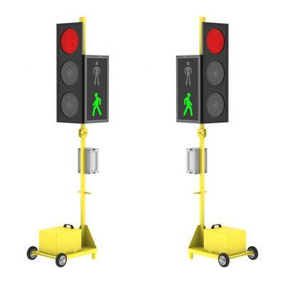 Мобильный светофор серии ДУОС Пешеход. Комплект из 2-х светофоров.